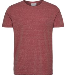 neps structure tee s/s t-shirts short-sleeved röd lindbergh
