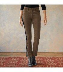mari tuxedo stripe jeans
