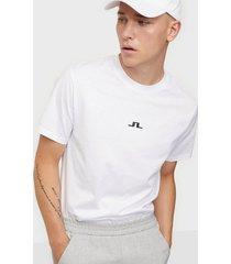 j lindeberg jordan bridge t-shirt cotton t-shirts & linnen white