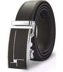 cinturon hombre lujo hebilla automatica wide 125cm o