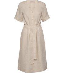 dress short sleeve knälång klänning beige noa noa