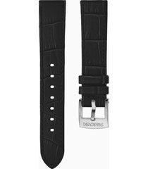 cinturino per orologio 20mm, nero, acciaio inossidabile