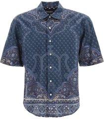 etro scarf print short-sleeved shirt