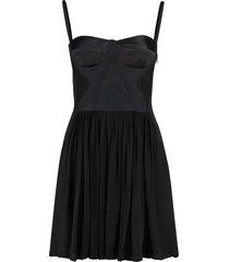 alberta ferretti silk corset dress