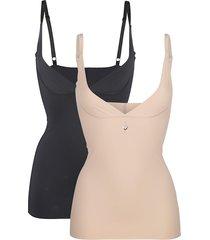 corrigerend hemdje cybèle zwart::nude