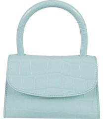 by far mini croco embossed shoulder bag