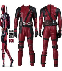 top replica deadpool2 outfit movie cosplay custom-made full set adult men zipper