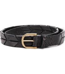 ajmone crocodile effect belt - black