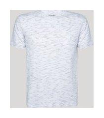 camiseta masculina básica com bolso manga curta gola careca branca