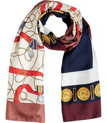 burberry archive print scarf - blue