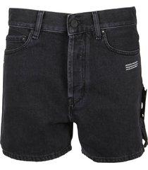 off-white shorts dark grey straight new