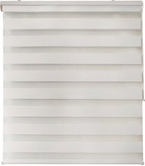 cortina rolo em poliéster zebra 140x160cm branca