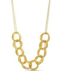 kensie yellow gold-tone interlocking circle necklace