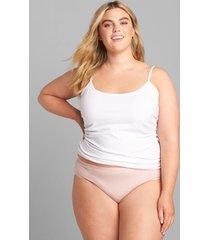 lane bryant women's cotton hipster panty 12 parisian pink