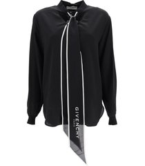 givenchy lavalliere blouse