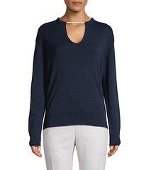 cotton & silk-blend sweater
