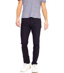 jeans brave soul long lenght negro - calce ajustado