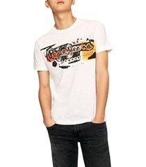 camiseta blanco-multicolor pepe jeans