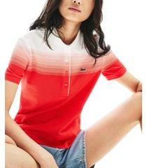 lacoste ombre cotton polo shirt