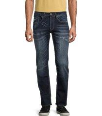 buffalo david bitton men's ash-x slim stretch-fit jeans - indigo - size 32 30