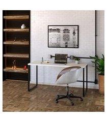 mesa de escritório kuadra i bege 150 cm