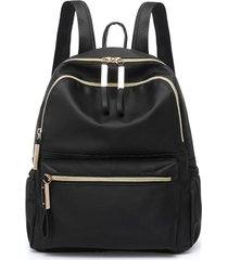 bolso mujer mochila casual oxford  impermeable mediano 2918 negro