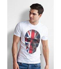 camiseta base nobre skull t- shirt masculina - masculino
