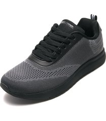 tenis lifestyle gris-negro nautica