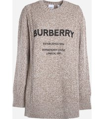 burberry wool blend sweater with contrasting logo print