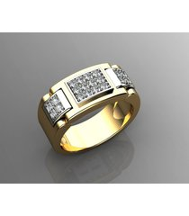 mens 14k yellow gold diamond engagement wedding love gents groom ring
