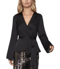 bcbgmaxazria satin wrap top
