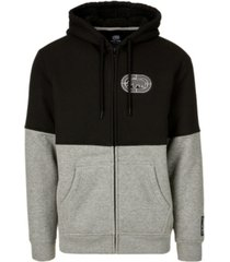 ecko unltd men's patched together full zip thermal sherpa hoodie