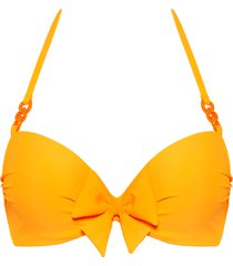 papillon push up bikini top | wired padded eye-popping orange - 32c