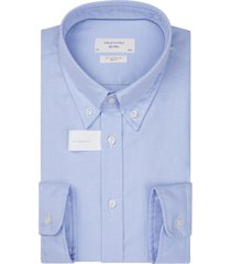 profuomo overhemd soft constructed blauw slim fit
