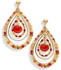 women's gas bijoux aurore beaded teardrop earrings