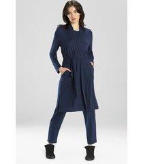 natori calm cardigan wrap robe top, women's, size l