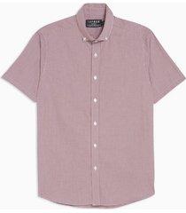 mens burgundy texture slim shirt