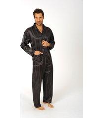 heren pyjama satijn 94010-50-antraciet grijs