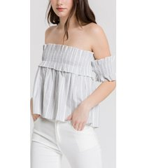 english factory off shoulder smocked top