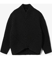 cable rib sweater