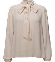 bowie blouse blus långärmad rosa cream