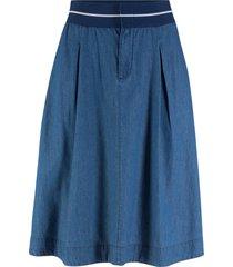 gonna in jeans con elastico (blu) - john baner jeanswear