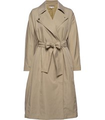 zula lyocell lng bltd trnch ct trenchcoat lange jas beige french connection