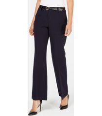 charter club belted tummy-control trousers, created for macy's