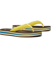 tory burch platform flip flop, size 8 in firefly/deep maple at nordstrom
