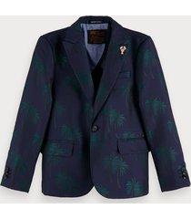 scotch & soda palm tree jacquard blazer