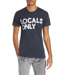 aviator nation locals only graphic t-shirt, size x-large in charcoal at nordstrom