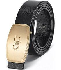 125cm uomo business rame fibbia vera pelle cintura fibbia automatica brillante resistente cintura