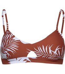 hybrid bralette bikinitop brun seafolly