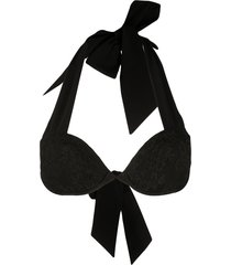 carine gilson lace push up swim top - black